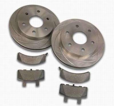 Brakes - Custom Brake Kits - SSBC - SSBC Turbo Slotted Rotors & Pads - Front - A2351010