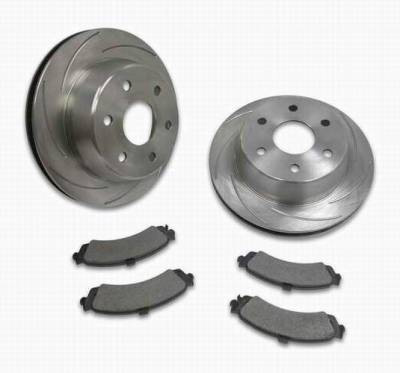Brakes - Custom Brake Kits - SSBC - SSBC Turbo Slotted Rotors & Pads  - Rear - A2351020
