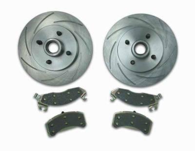 Brakes - Custom Brake Kits - SSBC - SSBC Turbo Slotted Rotors & Pads - Front - A2360003