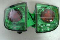 Headlights & Tail Lights - Tail Lights - Custom - Green Housing Euro Taillights