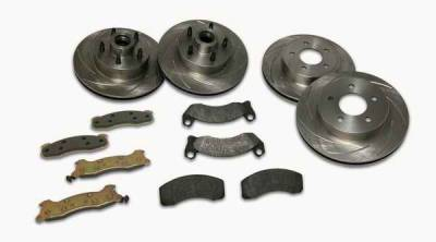 Brakes - Custom Brake Kits - SSBC - SSBC Turbo Slotted Rotors & Pads - Front & Rear - A2360004