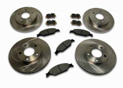 Brakes - Custom Brake Kits - SSBC - SSBC Turbo Slotted Rotors & Pads - Front & Rear - A2360006