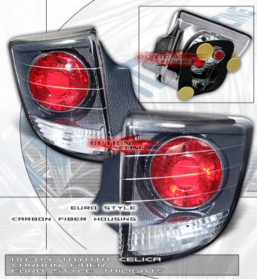 Headlights & Tail Lights - Tail Lights - Custom - Carbon Fiber Euro  Taillights