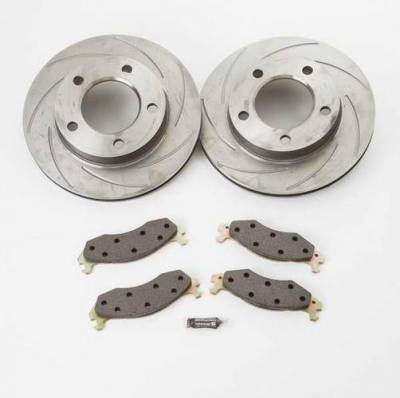 Brakes - Custom Brake Kits - SSBC - SSBC Turbo Slotted Rotors & Pads - Front & Rear - A2360008