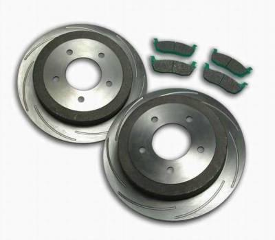 Brakes - Custom Brake Kits - SSBC - SSBC Turbo Slotted Rotors & Pads  - Rear - A2360010