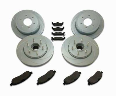 Brakes - Custom Brake Kits - SSBC - SSBC Turbo Slotted Rotors & Pads - Front & Rear - A2361001