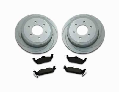 Brakes - Custom Brake Kits - SSBC - SSBC Turbo Slotted Rotors & Pads  - Rear - A2361003