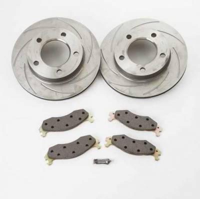 Brakes - Custom Brake Kits - SSBC - SSBC Turbo Slotted Rotors with Xtra Life Plating & Pads  - Rear - A2390000