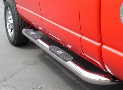 Suv Truck Accessories - Running Boards - Aries - Dodge Ram Aries Big Step - Stainless - 4 Inch