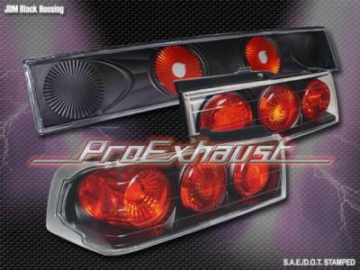 Headlights & Tail Lights - Tail Lights - Custom - Black Euro Taillights