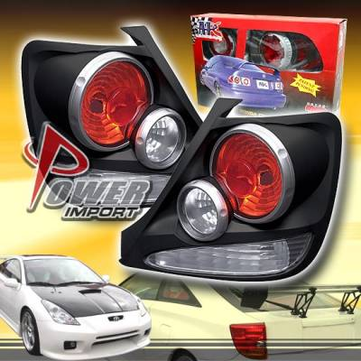 Headlights & Tail Lights - Tail Lights - Custom - 3-D Retro Black Taillights