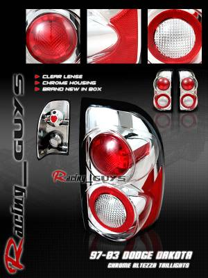 Headlights & Tail Lights - Tail Lights - Custom - Euro Chrome Clear Lense Taillights