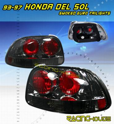 Headlights & Tail Lights - Tail Lights - Custom - Euro Smoked Housing Altezza Taillights