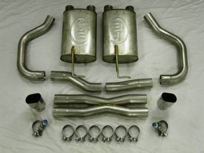 Exhaust - Custom Fit Exhaust - Stainless Works - Dodge Ram Stainless Works Header & Exhaust System - CHALLV6CBSE