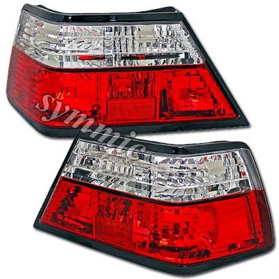 Headlights & Tail Lights - Tail Lights - Custom - Red Clear Crystal Lens Taillights