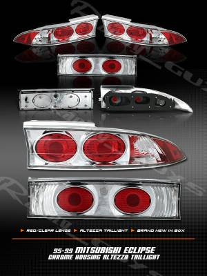 Headlights & Tail Lights - Tail Lights - Custom - Chrome Red Clear Altezza Taillights