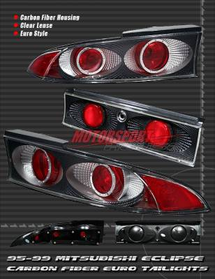 Headlights & Tail Lights - Tail Lights - Custom - Clear Lense Carbon Altezza Taillights