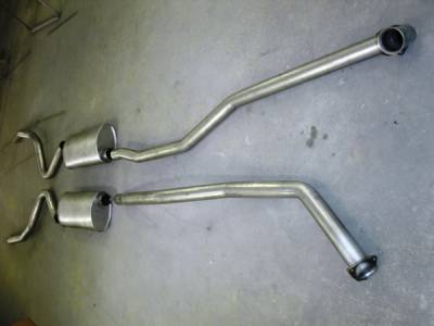 Exhaust - Custom Fit Exhaust - Stainless Works - Chevrolet Chevelle Stainless Works Exhaust System - Dual Muffler without Resonator - CV69BB0A