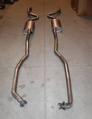 Exhaust - Custom Fit Exhaust - Stainless Works - Chevrolet Chevelle Stainless Works Exhaust System - Dual Muffler without Resonator - CV69SB0A