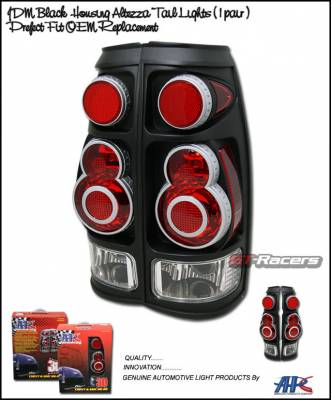 Headlights & Tail Lights - Tail Lights - Custom - 3- D  Black Altezza Taillights