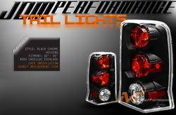 Headlights & Tail Lights - Tail Lights - Custom - Black Chrome Housing Taillights