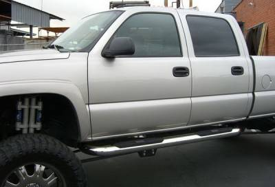 Suv Truck Accessories - Running Boards - Aries - GMC Sierra Aries Big Step - Stainless - 4 Inch