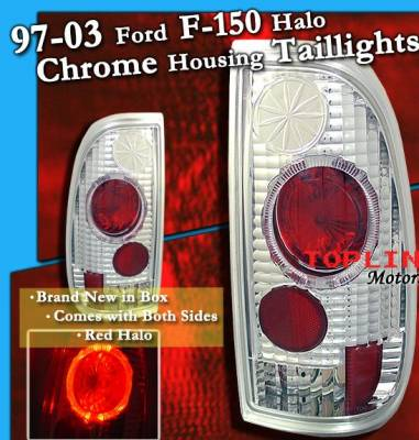 Headlights & Tail Lights - Tail Lights - Custom - Chrome Red Halo Taillights
