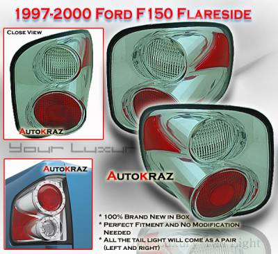 Headlights & Tail Lights - Tail Lights - Custom - Chrome Clear Altezza Flareside Taillights