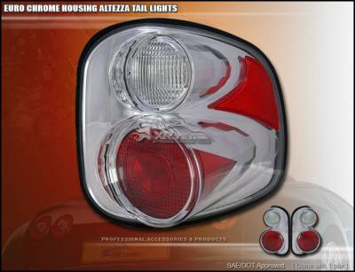 Headlights & Tail Lights - Tail Lights - Custom - Euro Chrome Altezza Flareside Taillights