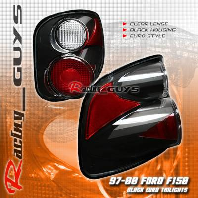 Headlights & Tail Lights - Tail Lights - Custom - Euro Black Altezza Flareside Taillights