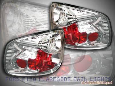 Headlights & Tail Lights - Tail Lights - Custom - Chrome Flareside Taillights