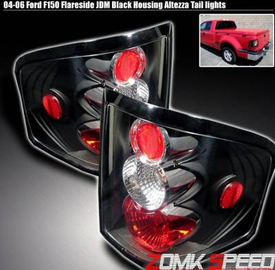 Headlights & Tail Lights - Tail Lights - Custom - Black Altezza Flareside Taillights
