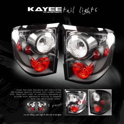 Headlights & Tail Lights - Tail Lights - Custom - Black Flareside Taillights