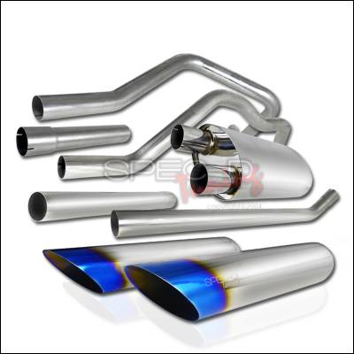 Exhaust - Custom Fit Exhaust - Spec-D - Ford F150 Spec-D Catback Exhaust System - MFCAT2-F15004-SD