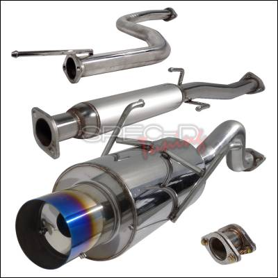 Exhaust - Custom Fit Exhaust - Spec-D - Acura Integra Spec-D N1 Style Catback Exhaust with Burnt Tip - MFCAT2-INT94GSRT-SD