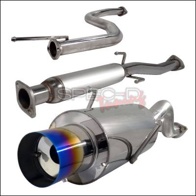 Exhaust - Custom Fit Exhaust - Spec-D - Acura Integra Spec-D N1 Style Catback Exhaust with Burnt Tip - MFCAT2-INT94T-SD