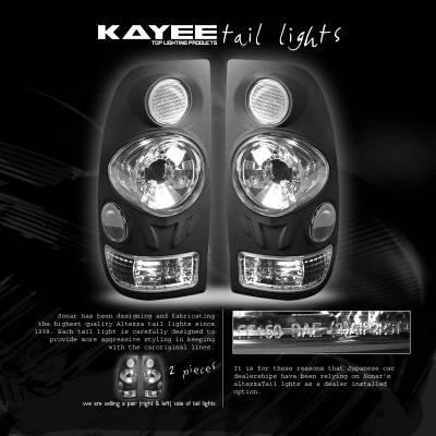 Headlights & Tail Lights - Tail Lights - Custom - Black Clear Taillights