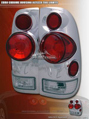 Headlights & Tail Lights - Tail Lights - Custom - 3D Euro Chrome Taillights