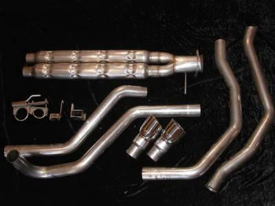 Exhaust - Custom Fit Exhaust - Stainless Works - Chevrolet SSR Stainless Works Header & Exhaust System - SSRCH