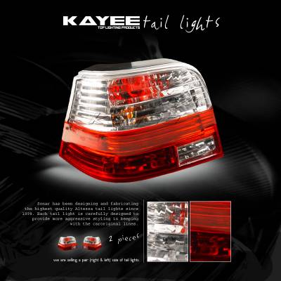 Headlights & Tail Lights - Tail Lights - Custom - Crystal Red Altezza Taillights