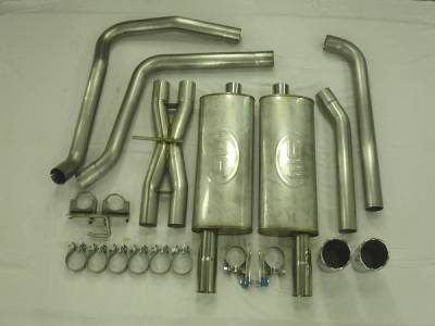 Exhaust - Custom Fit Exhaust - Stainless Works - Chevrolet Trail Blazer Stainless Works Header & Exhaust System - TB6TD
