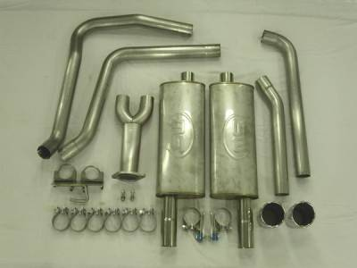 Exhaust - Custom Fit Exhaust - Stainless Works - Chevrolet Trail Blazer Stainless Works Header & Exhaust System - TB6TD-CB