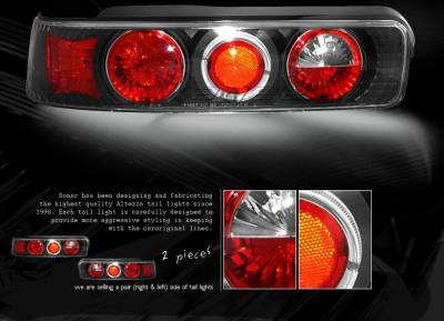 Headlights & Tail Lights - Tail Lights - Custom - Black Halo Altezza Taillights