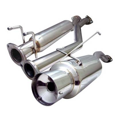 Exhaust - Custom Fit Exhaust - Spyder Auto - Honda Civic 2DR & 4DR Spyder Cat-Back Exhaust - YZ-CB-16079