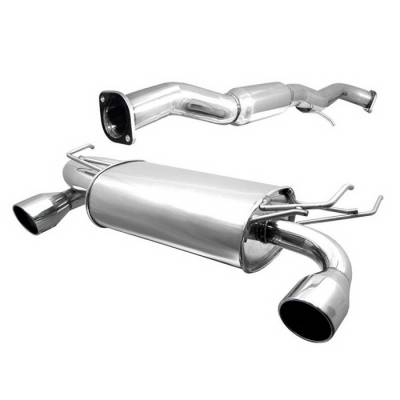 Exhaust - Custom Fit Exhaust - Spyder Auto - Nissan 350Z Spyder Dual Tip Cat-Back Exhaust - YZ-CB-3151330
