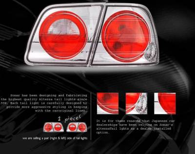 Headlights & Tail Lights - Tail Lights - Custom - Crystal Altezza Taillights