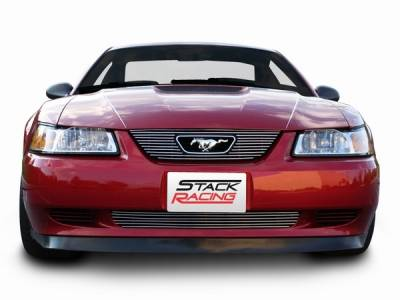 Stack Racing - Ford Mustang Stack Racing Billet Upper Grille with Pony Cutout - 17009