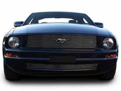 Stack Racing - Ford Mustang Stack Racing Billet Upper Grille with Pony Cutout - 17010