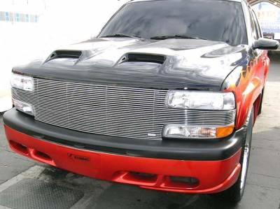 T-Rex. - Chevrolet Silverado T-Rex Full Face Billet Grille - 27 Bars - 20078