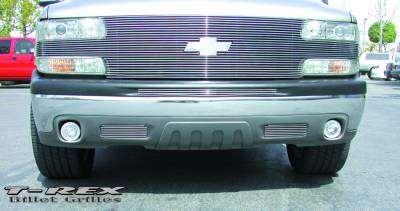 T-Rex. - Chevrolet Silverado T-Rex Full Face Billet Grille with Bowtie Installed - 25 Bars - 20079